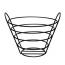 Basic Matt Black Bread Basket Round