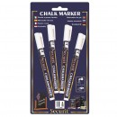 Chalk Marker - White - Small - 1-2mm Nib - Set of 4