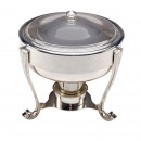 Pelican Mirror Stainless Steel Round Chafing Dish 3.5 Ltr.