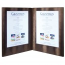LED Menu Holder - Copper Clr - Displays 2xA4 Paper/Transparent inserts