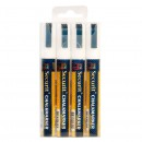 Chalk Marker - White - Medium 2-6mm Nib - Set of 4