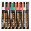 Chalk Marker - Coloured - Medium - 2-6mm Nib - Earth Tone Colors - Set of 8