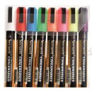 Chalk Marker-Coloured - Medium - 2-6mm Nib-Set of 8