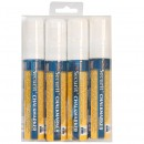 Chalk Marker - White - Large 7-15mm Nib - Set of 4