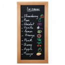 Woody Chalk Board - Teak - Including Chalk Marker size 20x40