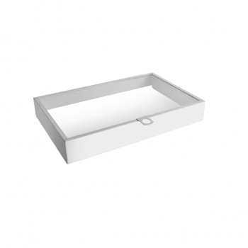 White Stainless Steel Lid for Modular Hinged Buffet Station GN 1/1