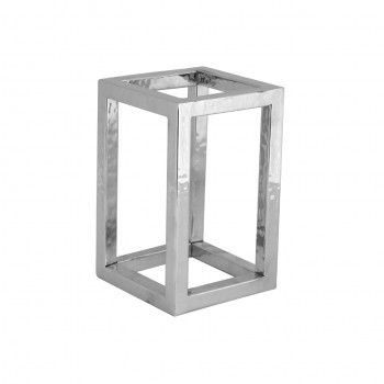 Presidential Hammered Stainless Steel Square Riser