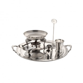 Queen Anne Silver Plated Round Snack Warmer Set