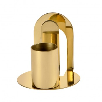 Gold Finish Stainless Steel Tooth Pick Stand With Tissue Holder