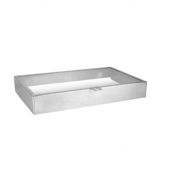 Mirror Stainless Steel Lid for Modular Hinged Buffet Station GN 1/1