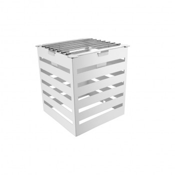 Crate White Stainless Steel Warm Riser with Grill