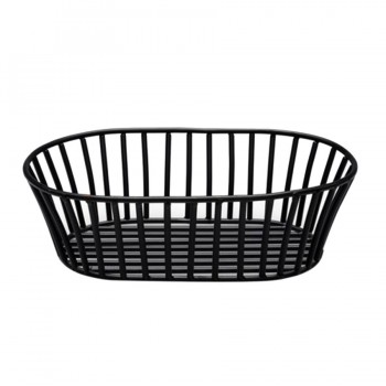 Basic Matt Black Bread Basket Oval