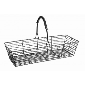 Industrial Matt Black Wire Basket