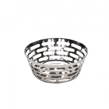 Sensation Mirror Stainless Steel Round Bread Basket
