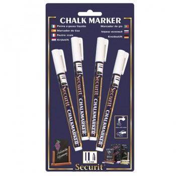 Chalk Marker - White - Small - 1-2mm Nib - Set of 4