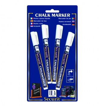 Securit Chalk Marker - White - Small