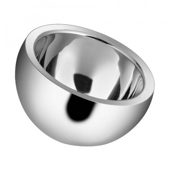 Dobbelt Mirror Stainless Steel Double Wall Insulated Round Candy Bowl