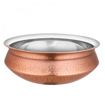 Marrakech Hammered Burnt Copper Finish Handi Bowl