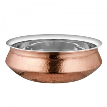 Masala Hammered Copper Finish Handi Bowl