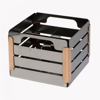 Crate Mirror Stainless Steel Cultery Caddy with 4 Divider Insert