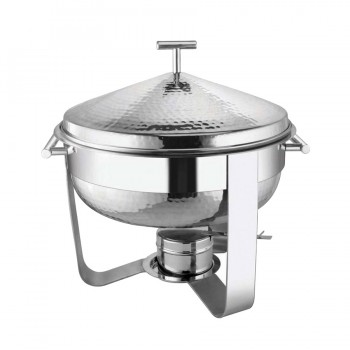 Presidential Hammered Stainless Steel Chafing Dish Round