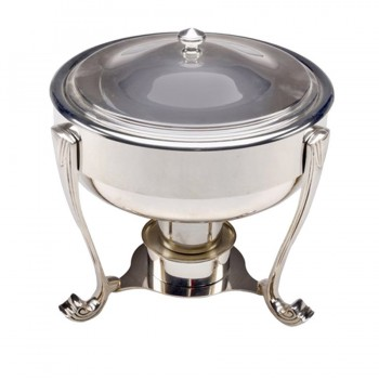 Pelican Mirror Stainless Steel Round Chafing Dish