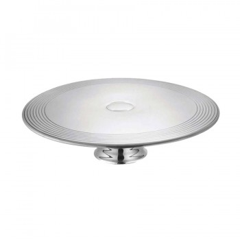 Suite Mirror Stainless Steel Cake Stand with Running Border