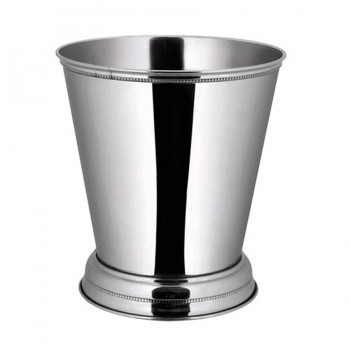 Bead Mirror Stainless Steel Round Mint Julep Cup