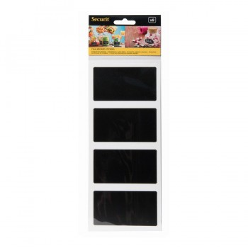 Rectangle Chalkboard stickers set of 8