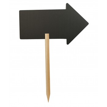 Securit Silhouette Arrow Chalk Board Sign. With Chalk Marker
