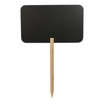 Securit Silhouette Rectangle Chalk Board Sign. Wooden Stand + Chalk Marker