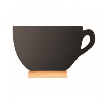 Silhouette Table chalk board - Cup - (Wooden base) Including Chalk Marker