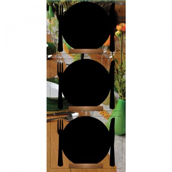 Silhouette Table Chalk Board Mini Plate (Wooden base) - Including Chalk Marker - Set of 3