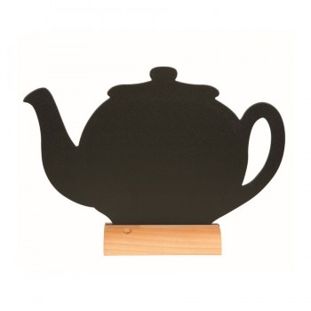 Silhouette Table Chalk Board - Tea Pot- (Wooden Base) Including Chalk Marker