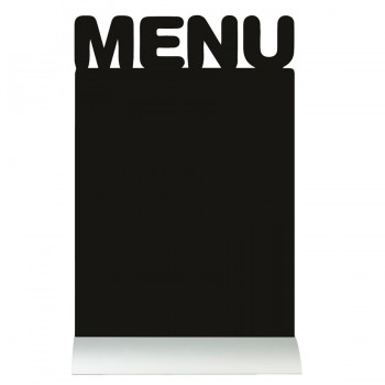 Silhouette Table Chalk Board - Menu (Alu. Base) - Including Chalk Marker
