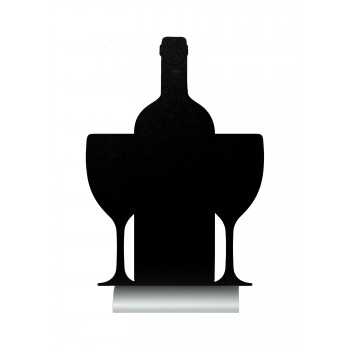 Securit Silhouette Table Chalk Board - Wine (Alu. Base) - Including Chalk Marker