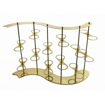 Venice Gold Finish Floating Mini Riser with 24 Holders
