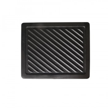 Griddle Plate Matt Black for Modular Buffet Station GN 1/2