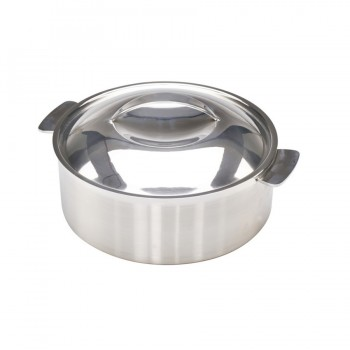 Skyserv Induction Dual Finish Stainless Steel Round Dutch Oven with Lid