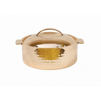 Skyserv Induction Hammered Copper Finish Round Dutch Oven with Lid