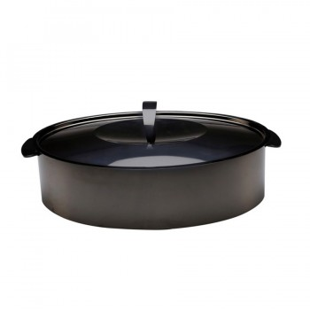Skyserv Induction Titanium Finish Oval Dutch Oven with Lid