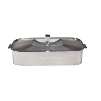 Skyserv Induction Dual Finish Stainless Steel Rectangular Dutch Oven with Lid