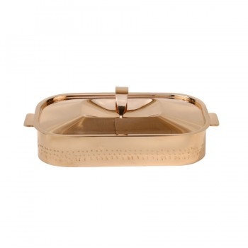 Skyserv Induction Hammered Copper Finish Rectangular Dutch Oven with Lid