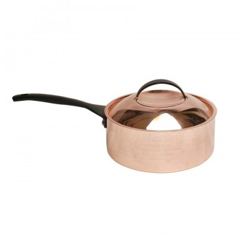 Skyserv Induction Hammered Copper Finish Round Sauce Pan with Lid