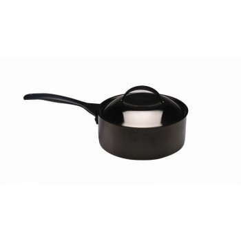 Skyserv Induction Titanium Finish Round Sauce Pan with Lid