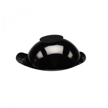 MiniBytes Titanium Finish Round Clouche Dish