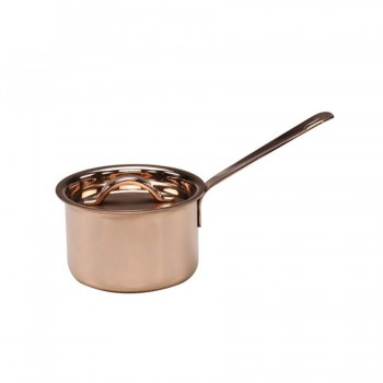 MiniBytes Copper Finish Sauce Pan with Lid