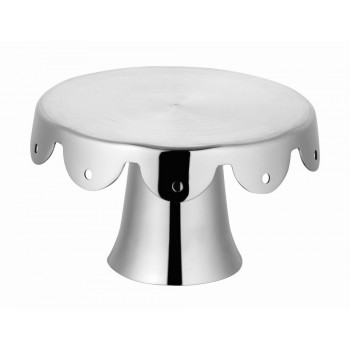 MiniBytes Brushed Stainless Steel Cake Stand