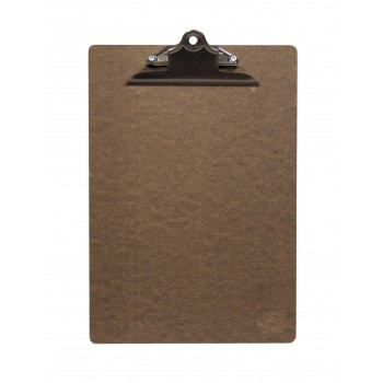 Securit Wooden Menu Clipboard, Brown with stainless steel clip, A4 size