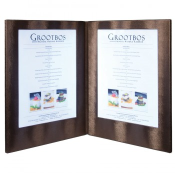 LED Menu Holder - Copper Clr - Displays 2 x A4 Paper / Transparent inserts (A4/A5)